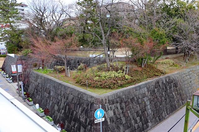 上から眺める有岡城跡