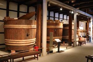 白鹿記念酒造博物館・酒蔵館内の展示