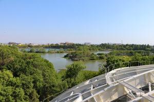 伊丹市昆虫館・4階展望台からの眺望
