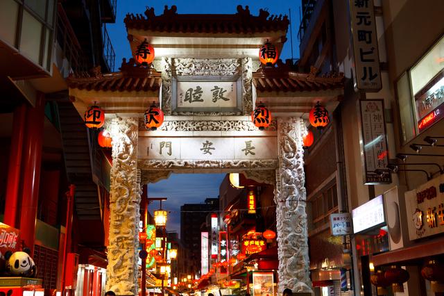 南京町・長安門ライトアップ