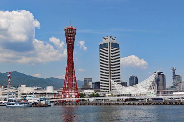 神戸ポートタワーとメリケンパーク