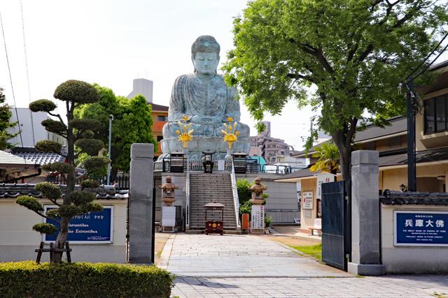 能福寺入り口から兵庫大仏