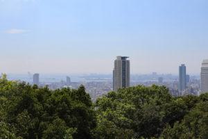 布引ハイキングコース・見晴らし展望台の眺望