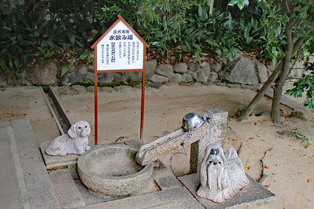 弓弦羽神社参道・犬の水飲み場