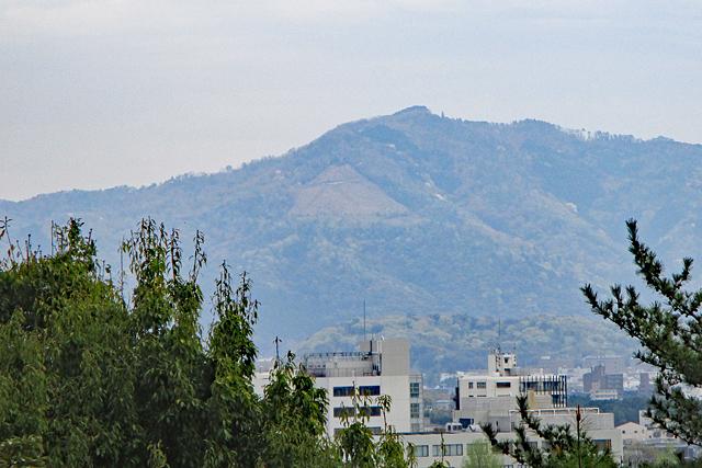 船岡山から眺める大文字