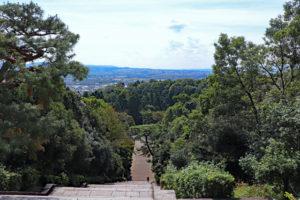 伏見桃山陵からの眺望