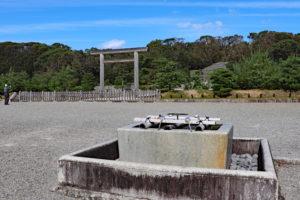 伏見桃山陵・拝所の手水