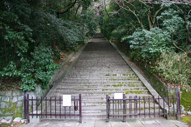 豊国廟石段登り口
