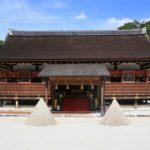 上賀茂神社|厳かさを醸し出す細殿前の2つの立砂(京都名所巡り)