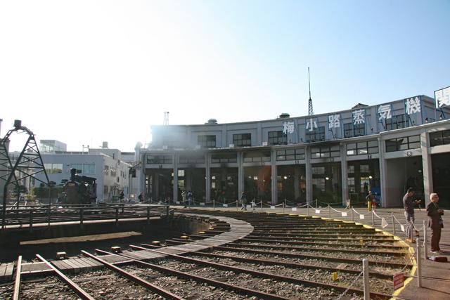 京都鉄道博物館・扇形車庫と転車台