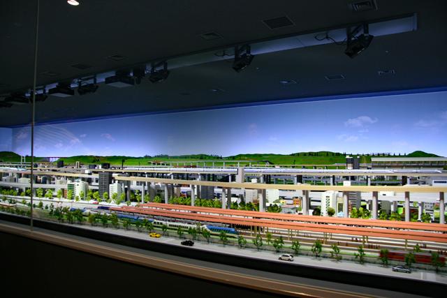 京都鉄道博物館・本館2階ジオラマ
