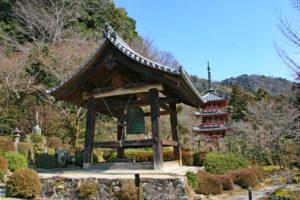 三室戸寺・鐘楼と三重塔