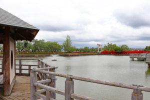 長岡天満宮・八条ヶ池水上橋