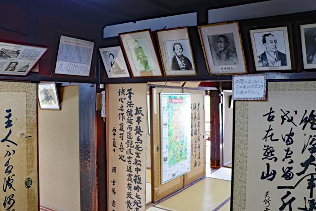 寺田屋内部の資料展示