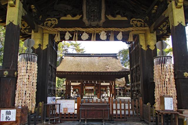 唐門から社殿を眺める