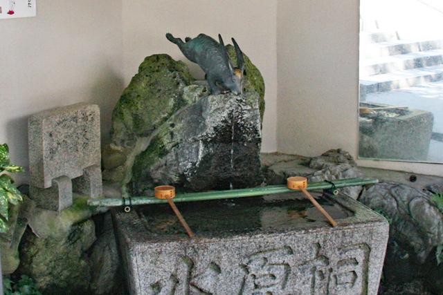宇治神社・手水舎のうさぎ