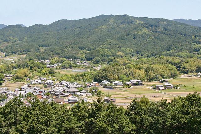 甘樫丘から眺める飛鳥寺