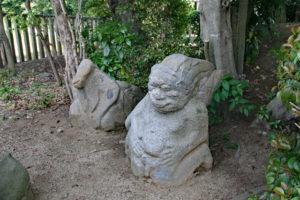 猿石(山王権現・女)