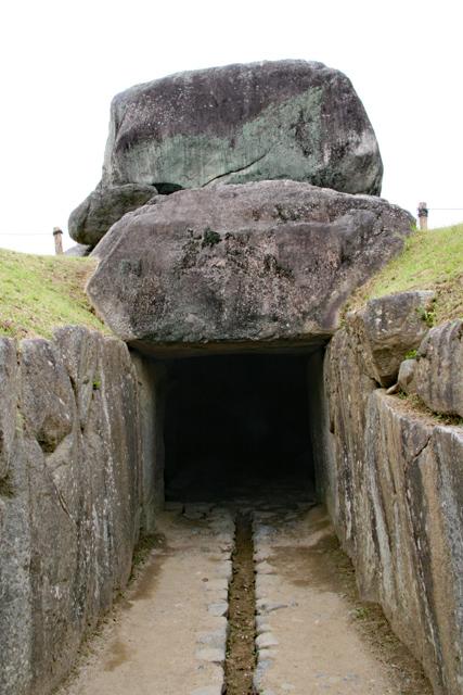 石舞台古墳・石室入り口