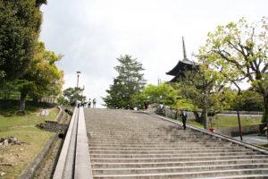 開放的な興福寺境内