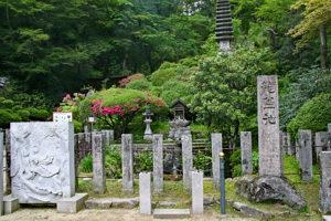 岡寺・本堂前の龍蓋池