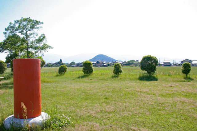 藤原京から眺める畝傍山