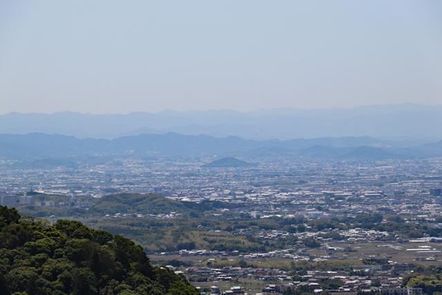 山頂から眺める大和三山