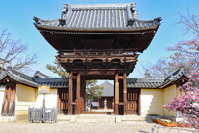 道明寺山門(楼門)