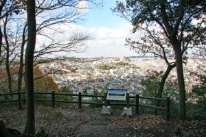 烏帽子形城跡・山頂付近からの眺望