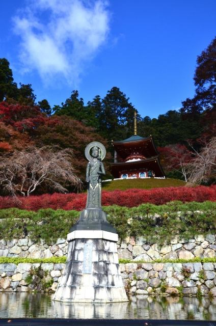 勝尾寺・下から眺める多宝塔