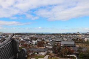 岸和田城・天守閣3階からの眺望