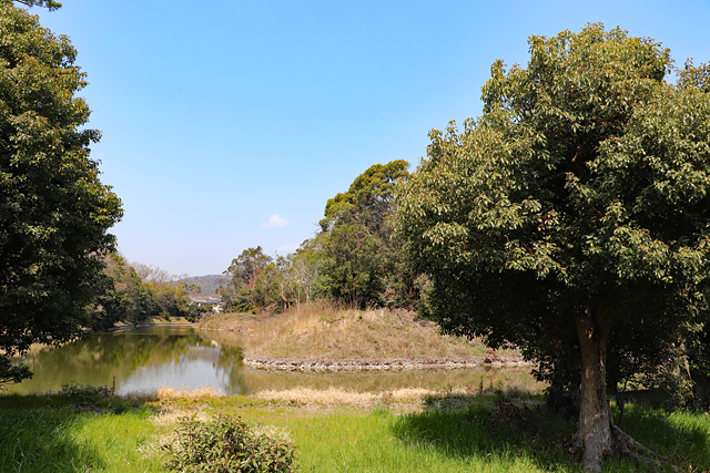 太田茶臼山古墳・太田公民館付近からの眺望