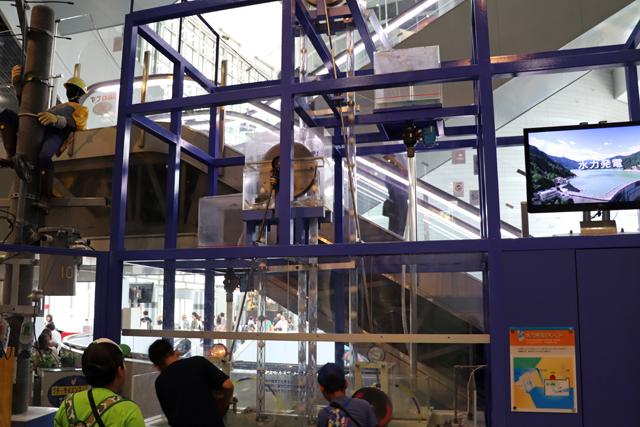 大阪市立科学館1階・水力発電