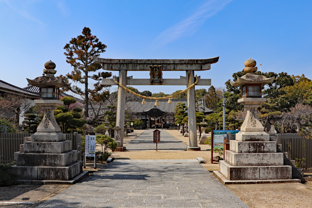 誉田八幡宮(応神天皇陵の南)