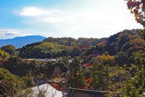 滝谷不動明王寺・多宝塔からの眺望
