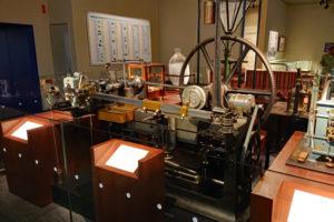 造幣博物館2階展示室・昔の設備展示