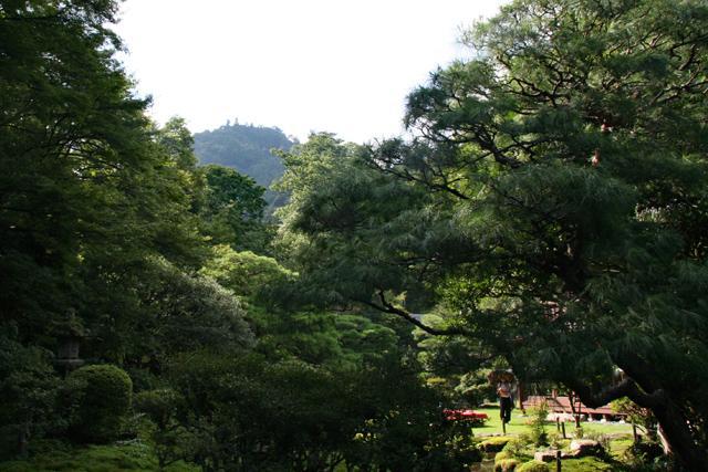 旧竹林院庭園・借景の山