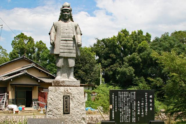 坂本城址公園・明智光秀像