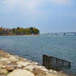膳所城跡|琵琶湖に突き出た水城跡に残る、昔の石垣(滋賀名所巡り)